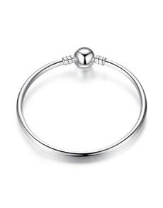 gifts: Round Charm Silver Loop Bracelet!
