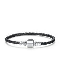 gifts: Black Leather Cord Bracelet!