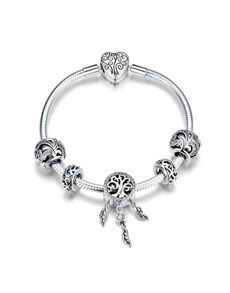 gifts: Silver Tree of Life Dream Catcher Bracelet!