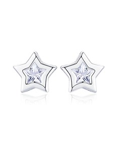 gifts: Silver Star Tube Earrings!