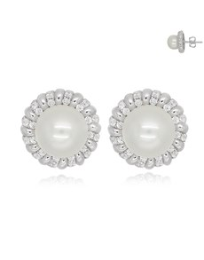 gifts: Halo Silver Pearl Studs!
