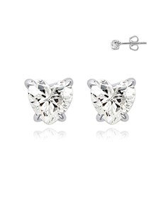 gifts: Silver Heart Claw Studs!