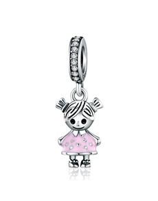 gifts: Pink Girl Dangle Charm!