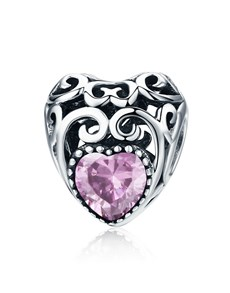 gifts: Pink Filigree Heart Charm!