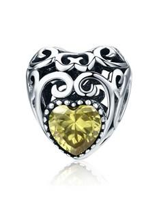 gifts: Yellow Filigree Heart Charm!