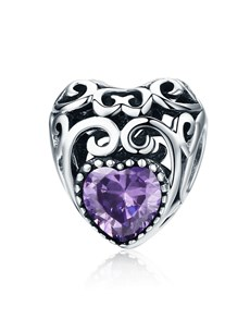 gifts: Purple Filigree Heart Charm!