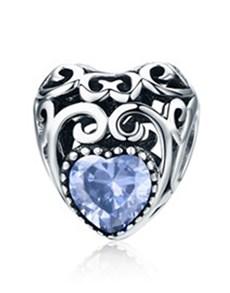 gifts: Blue Filigree Heart Charm!