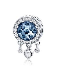 jewellery: Blue Glass Hearts Charm!