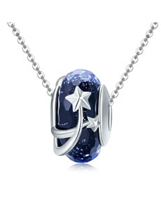 gifts: Blue Glass Stars Spacer Charm!