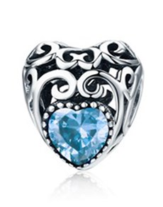 gifts: March Birthstone Heart Charm!