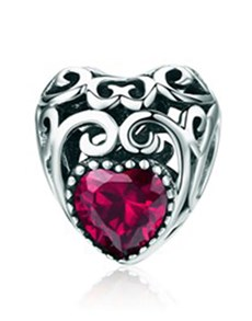 gifts: Turquoise Filigree Heart Charm!