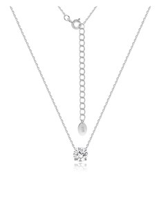 gifts: Silver CZ Round Claw Necklace!