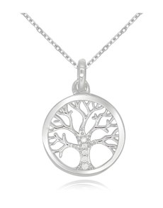 gifts: Silver CZ Open Tree of Life Pave Necklace!