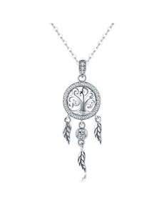 gifts: Silver Dream Catcher Necklace!
