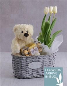 flowers: Tulip Basket of Goodness!