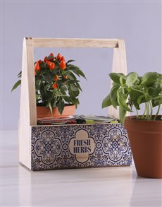 gifts: Fresh Herbs In Caddy!