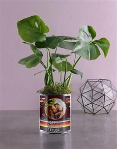 flowers: Personalised Monster Leaf in Vase!