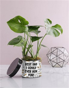 flowers: Best Dad Monsteria Hat Box!