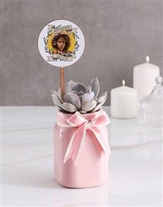 plants: Personalised Birthday Succulent In Jar!