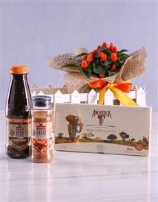flowers: Orange Chilli Plant Braai Set!
