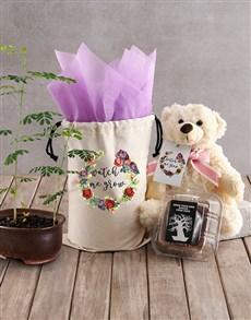 plants: Watch Me Grow Baobab Tree with Girl Teddy Plush!