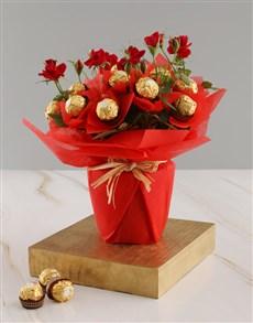 flowers: Red Rose Bush And Ferrero Rocher Treats!