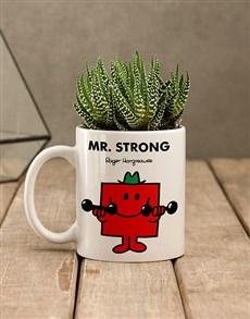 flowers: Mr Strong Succulent Mug!