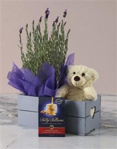 flowers: Lavender Hamper in Heart Crate!