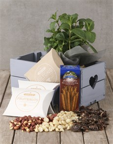 flowers: Herb with Gourmet Treats Crate!