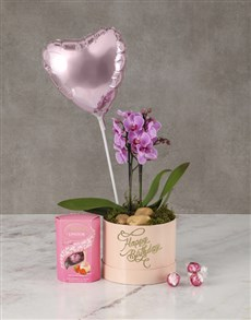 flowers: Brilliant Blush Orchid Hat Box!
