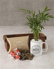 gifts: Bamboo Mug With Gourmet Treats!