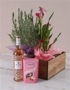 flowers: Pink And Lavender Hamper!