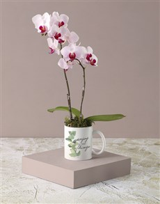 flowers: Enjoy Life White Floral Mug!