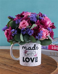 flowers: With Love Purple Floral Arrangement Mug!