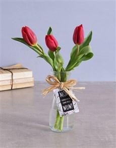 flowers: Red Tulips in Vase!