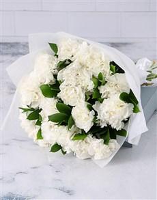 flowers: Crisp White Carnation Cluster!
