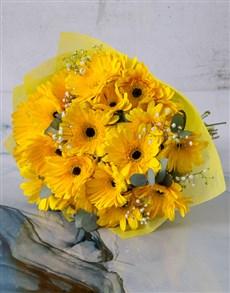 flowers: Sunshine Gerbera Daisy Bouquet!