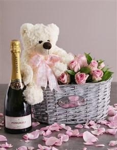 gifts: Tickled Pink Hamper Arrangement!