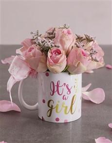 gifts: Pink Rose Arrangement in a Mug!