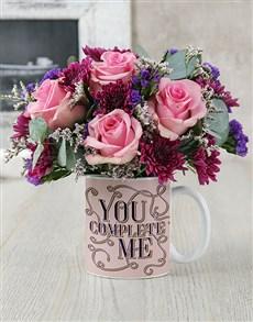 flowers: You Complete Me Floral Mug!