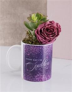 flowers: Sparkle Everyday Rose and Succulent Mug!