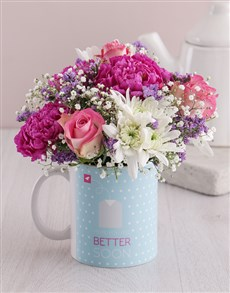 flowers: Floral Get Well Pastel Mix in a Mug!