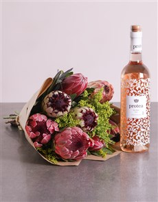 flowers: Proteas and Rose!
