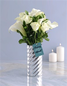 flowers: White Lilies and Choc Combo!
