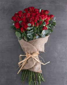 flowers: Fifty Layered Red Roses!