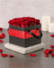 gifts: Red Laced Rose Box!