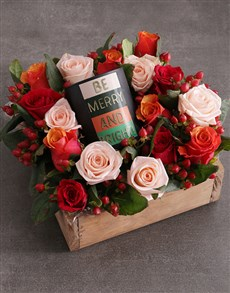 flowers: Christmas Mixed Rose Candle Crate!