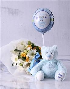 flowers: Baby Boy Teddy Bouquet!