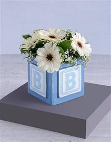 flowers: Baby Boy Building Block Arrangement!