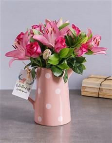 flowers: Rustic Pink Floral Arrangement!